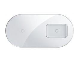 Беспроводное зарядное устройство Baseus Simple 2 in 1 Pro Edition For Phone + Pod White