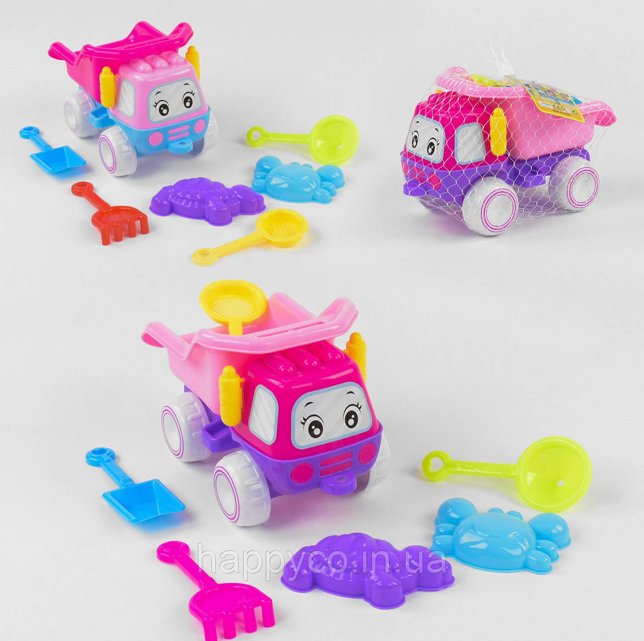 Детский  набор для песка машинка с пасочками