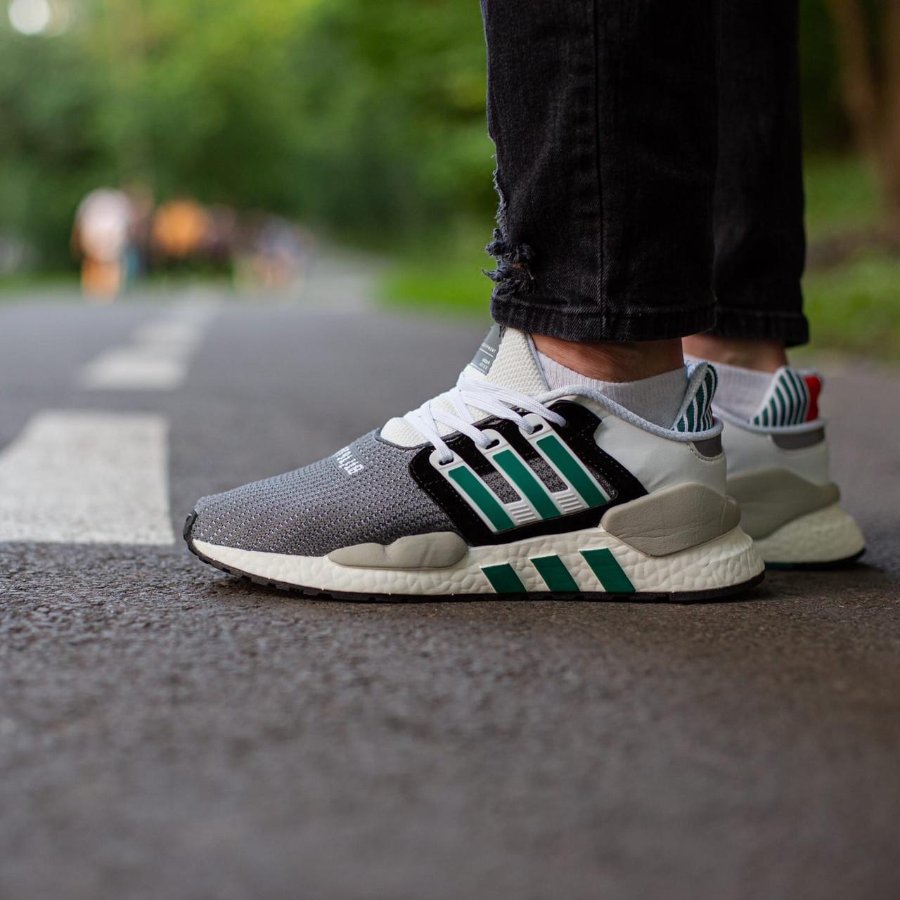 Мужские кроссовки Adidas EQT Support white grey, Реплика