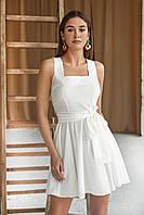 Женское платье нарядное короткое белое, 3 цвета,  xs,s,m,l