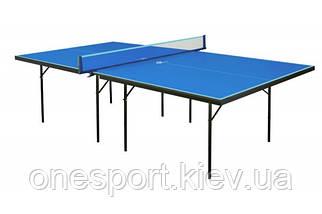 Теннисный стол GSI-sport Hobby Strong cиний Gk-1s/Gp-1s  синий/зелёный (код 153-650316)