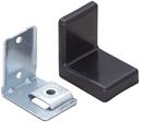 Уголок монтажный, регулируемый, стальной S=1,4 мм+ пластиковая накладка 38×50×52 мм: чёрная, F3M