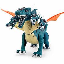 Электронный динозавр с пятью головами Dino valley