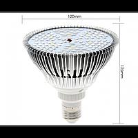 Фитолампа фито лампа для растений, полный спектр E27, 120LED 80 Вт