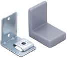 Уголок монтажный, регулируемый, стальной S=1,4 мм+ пластиковая накладка 38×50×52 мм: серая, F3M