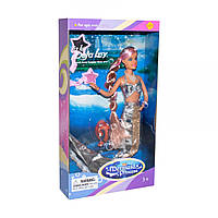 Кукла Defa: Русалка с питомцем (серебряная)