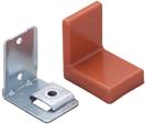 Уголок монтажный, регулируемый, стальной S=1,4 мм+ пластиковая накладка 38×50×52 мм: кальвадос, F3M