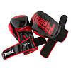 Боксерские перчатки PowerPlay 3017 черные карбон 10 унций, фото 4