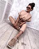 Женский повседневный спортивный костюм брюки и укороченная кофта свободного кроя в расцветках, фото 2