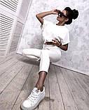 Женский повседневный спортивный костюм брюки и укороченная кофта свободного кроя в расцветках, фото 5