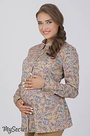 Рубашка из хлопка для беременных и кормящих, размеры от 44 до 50