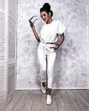 Женский повседневный спортивный костюм брюки и укороченная кофта свободного кроя в расцветках, фото 4
