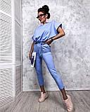 Женский повседневный спортивный костюм брюки и укороченная кофта свободного кроя в расцветках, фото 7