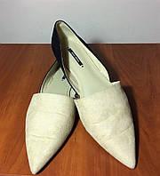 Туфлі жіночі стильні Zara замш 37 розмір