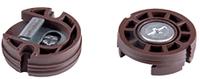 Навес круглый регулируемый D=35мм,L=12мм, коричневый, F3M