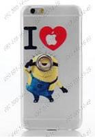 Чехол бампер пластик для iPhone 5/5s I Love Minion Стильный чехол Миньон для айфона Защитная панель на iPhone