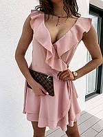 Платье женское летнее короткое беж, пудра, красный 42-44, 44-46