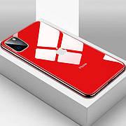 Стеклянный чехол для Iphone 11 Pro Red