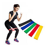 Еластичні фітнес гумки (для фітнесу,спорту) Esonstyle 5 штук.Еспандер-гумка,стрічки в мішечку, фото 3
