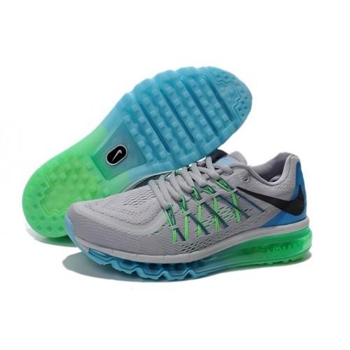 33fc947b Мужские кроссовки Nike Air Max 2015 сетка серо-голубой: продажа ...