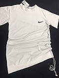 Женское летнее спортивное платье Nike белое и черное, фото 2
