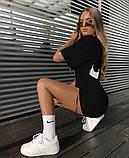 Женское летнее спортивное платье Nike белое и черное, фото 4