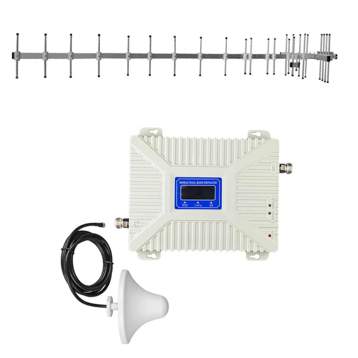 """Комплект 3G/4G репитер усилитель связи 2100/2600 МГц с антенной """"Стрела"""" 15Дб"""