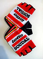 Перчатки велосипедные Lotto SOUDAL,велосипедные перчатки без пальцев,велорукавиці,M,L,XL