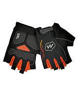 Перчатки велосипедные MySpace L гель,велосипедные перчатки без пальцев с гелевыми вставками под ладонь,гель,L