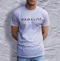 Популярная мужская футболка с надписью МИНИМАЛИСТ