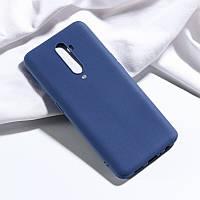 Чехол Soft Touch для Oppo Reno 2 силикон бампер темно-синий