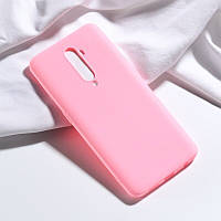 Чехол Soft Touch для Oppo Reno 2 силикон бампер светло-розовый