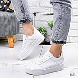 Женские кроссовки Nike Air Force белые, фото 5