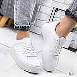 Женские кроссовки Nike Air Force белые, фото 6