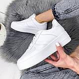 Женские кроссовки Nike Air Force белые, фото 7