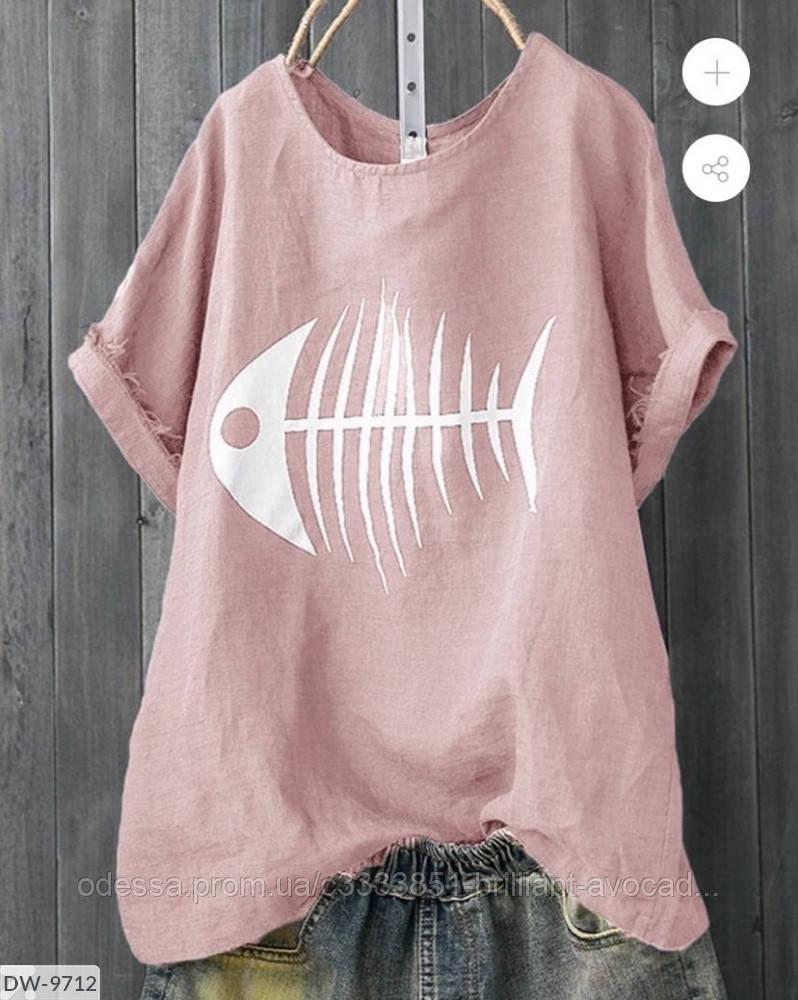 Женский стильная футболка с моднымпринтом