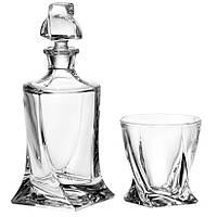 Набор Квадро для виски, стаканы 6х340мл, карафа 770мл