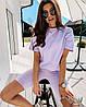Женский летний костюм футболка свободного кроя и велосипедки в ярких ветах