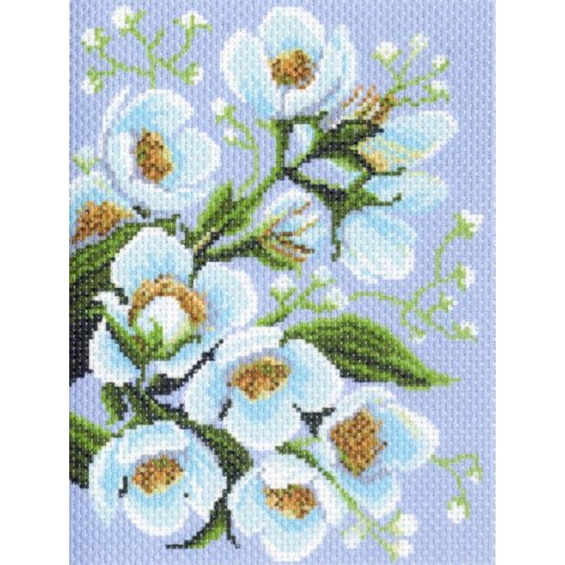 Вышивка нитками, Канва Цветы Жасмин