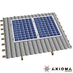 AXIOMA energy Система креплений на 2 панели параллельно крыше, алюминий 6005 Т6 и нержавеющая сталь А2, AXIOMA energy