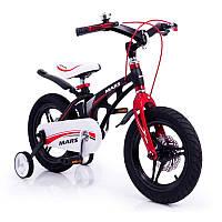 """Детский велосипед SIGMA MARS-16"""", часы, ДИСКОВЫЙ ТОРМОЗ,  литые диски, Black, фото 1"""