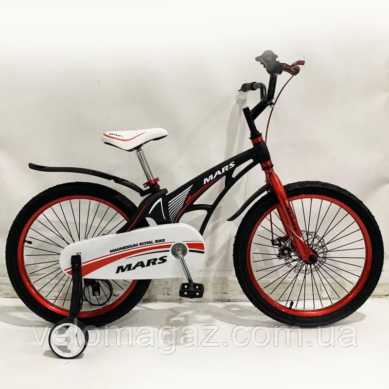 """Детский велосипед SIGMA MARS-20"""", ДИСКОВЫЙ ТОРМОЗ, Black"""