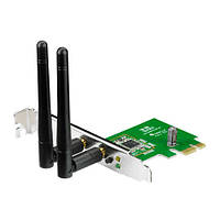 PCE-N15 WiFi-адаптер ASUS PCE-N15 802.11n, 2.4 ГГц, N300,  PCI Express, PCE-N15