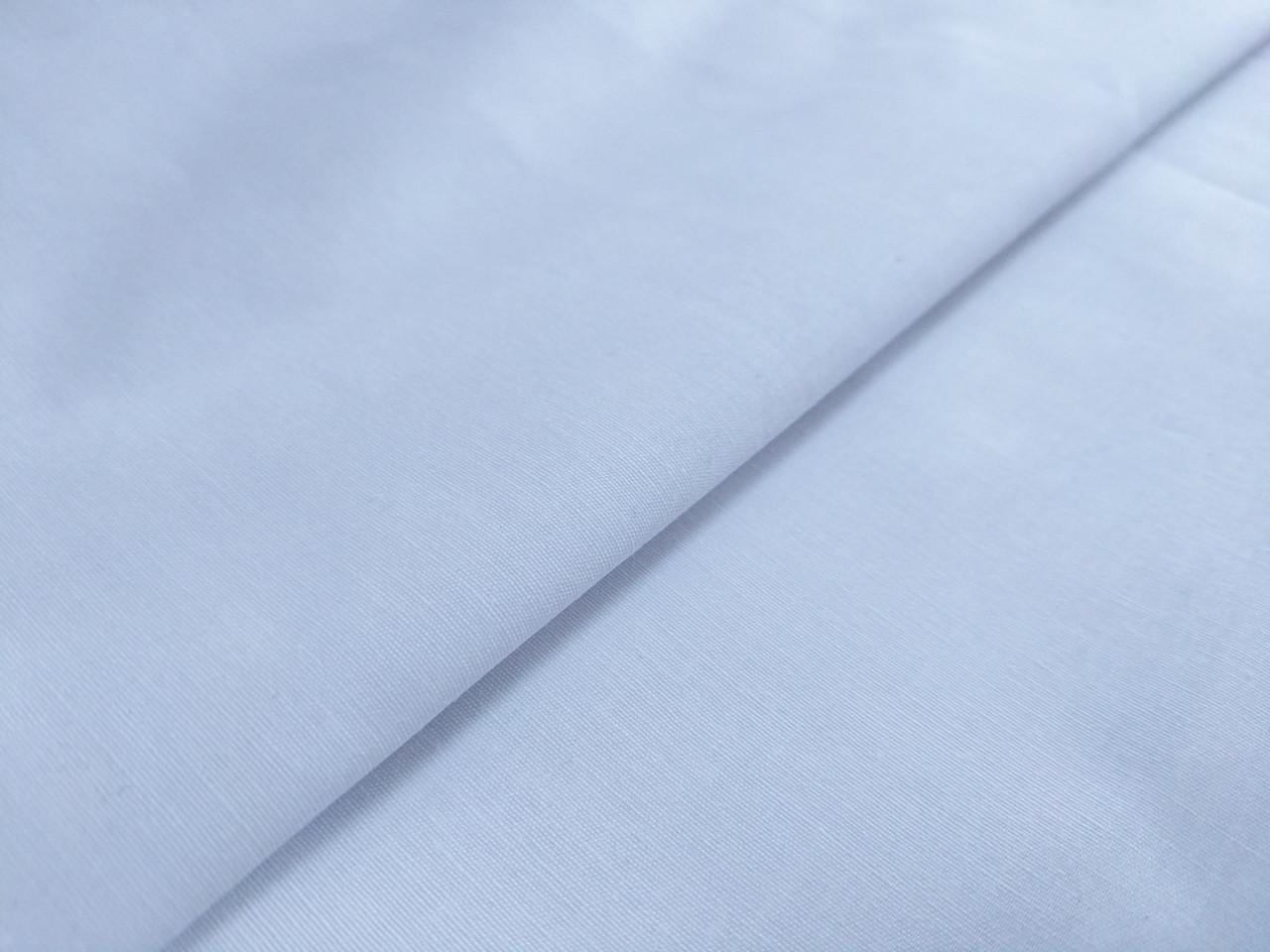 Поплин рубашечный стрейчевый уценка (текстильный брак), белый