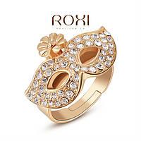 Кольцо Золотая маска, камни Сваровски,золото GF