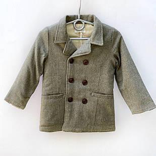 Утепленный пиджак с шерстью  для мальчика, размеры 6, 7 лет