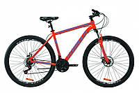 """Велосипед горный мужской 29"""" Formula Thor 2.0 2021  рама 20"""" оранжево-синий с серым"""