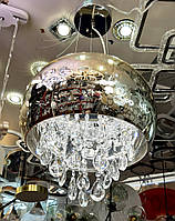 Люстра Подвесная LED 3 режима свечения потолочная светодиодная Хром 8083