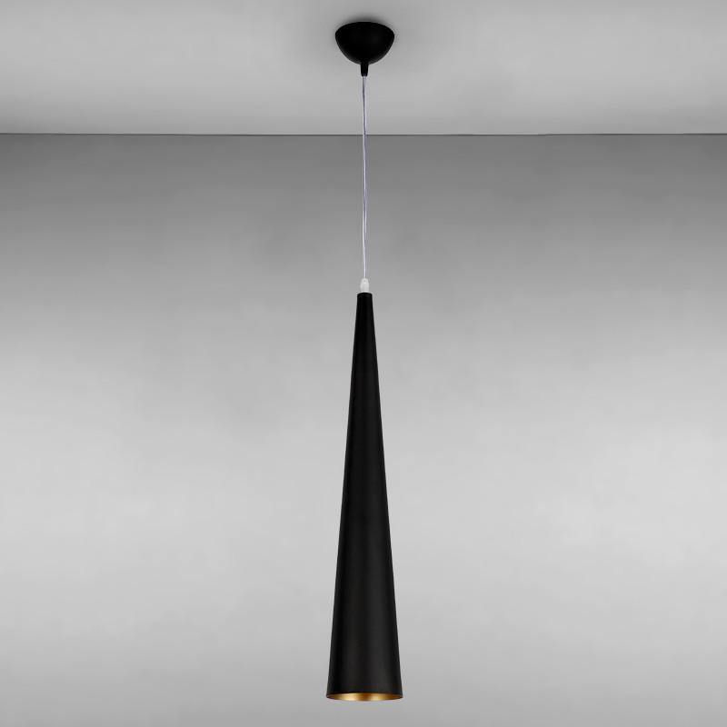 Люстра подвесная лофт на одну лампу LS-815035-1 BK черная