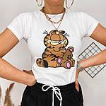 Женская футболка, 100% хлопок, р-р С-М; Л-ХЛ (белый), фото 3